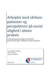 Arbejdet med sårbare patienter og perspektiver på social ulighed i ...