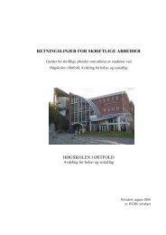 Retningslinjer for skriftlige arbeider - Høgskolen i Østfold