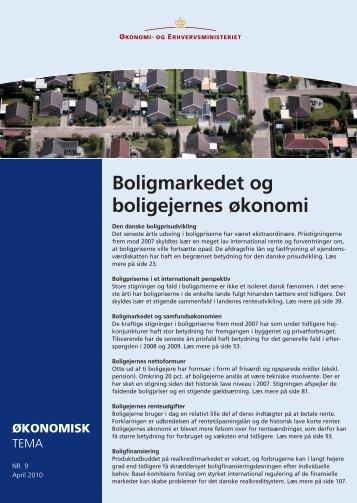 Boligmarkedet og boligejernes økonomi - Erhvervs
