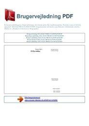 Brugsanvisning AEG-ELECTROLUX ... - Brugervejledning