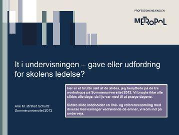 It i undervisningen – gave eller udfordring for skolens ... - mitBUF.dk