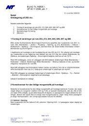 Notat - omlægning af 203 mv. - Brønderslev Kommune