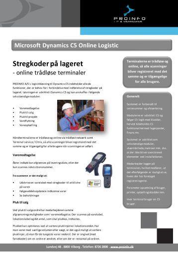 Microsoft Dynamics C5 Online Logistic - ProInfo A/S