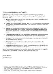 Velkommen hos Johannes Fog A/S