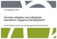 Patientsikkerhed Anette Andsager Sygehus Sønderjylland