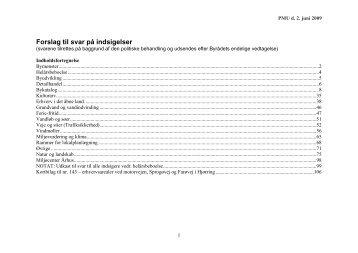Forslag til svar på indsigelser - Kommuneplan 2009 for Hjørring ...
