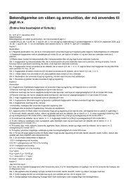 Bekendtgørelse om våben og ammunition, der må anvendes til jagt mv