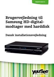 Brugervejledning til Samsung HD-digital- modtager med harddisk