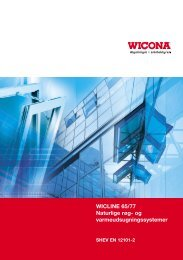 WICLINE 65/77 Naturlige røg- og varmeudsugningssystemer