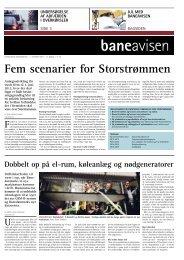 Fem scenarier for Storstrømmen - Banedanmark