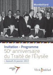 50e anniversaire du Traité de l'élysée