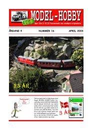 nr. 16 april 2003 - LGB-Hobby