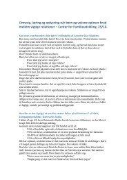 Noter fra temadag om skilsmisse på Center for ... - Mandecentret