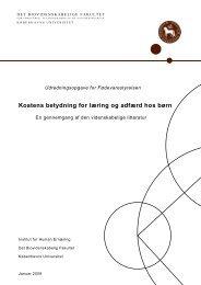 Kostens betydning for læring og adfærd hos børn - Institut for Idræt ...