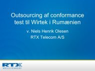Outsourcing af conformance test til Wirtek i Rumænien