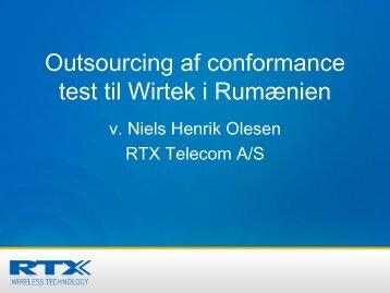 Outsourcing af conformance test til Wirtek i Rumænien