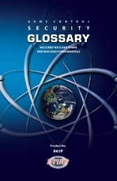 Arms Control Security Glossary (941P) - Defense Treaty Inspection ...