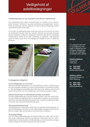 Vedligehold af asfaltbelægninger - Pankas