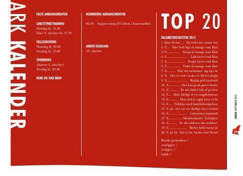 arken klubblad for amager ro- og kajakklub september 2012