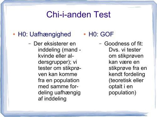 Chi-i-anden test og GOF