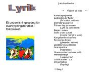 Et undervisningsoplæg for overbygningsforløbet i folkeskolen - Nordit