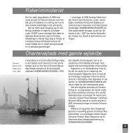 Fiskeriministeriet Chartersejlads med gamle sejlskibe
