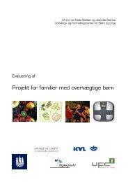 Projekt for familier med overvægtige børn - Servicestyrelsen