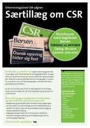 Særtillæg om CSR - Horisont Gruppen a/s