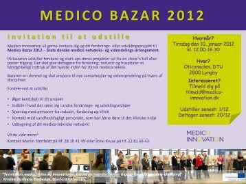 MEDICO BAZAR 2011 - Welfare Tech