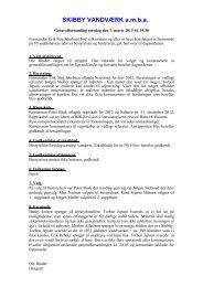 Generalforsamling den 7. marts 2013 - Skibby Vandværk