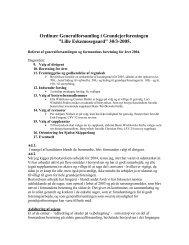 Ordinær Generalforsamling i Grundejerforeningen - GFLE ...