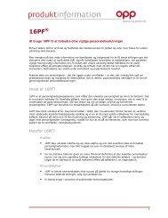 16PF Produktinformation - OPP - Eu.com