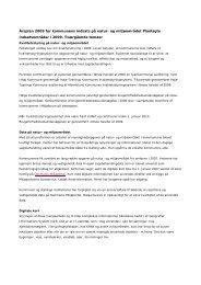 Årsplan 2009 for kommunens indsats på natur- og miljøområdet ...