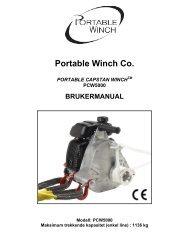 Portable Winch Co. - bei PORTABLE WINCH