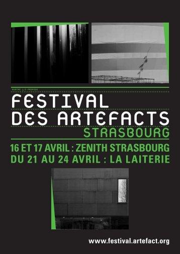 telechargez le programme complet - Festival des Artefacts 2013 - La ...