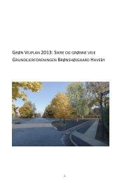 Bestyrelsens forslag til helhedsplan for sikre og grønne veje