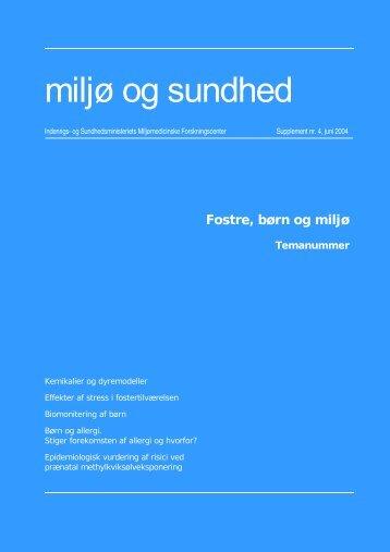 Fostre, børn og miljø, supplement nr. 4, juni 2004 (PDF 646KB)