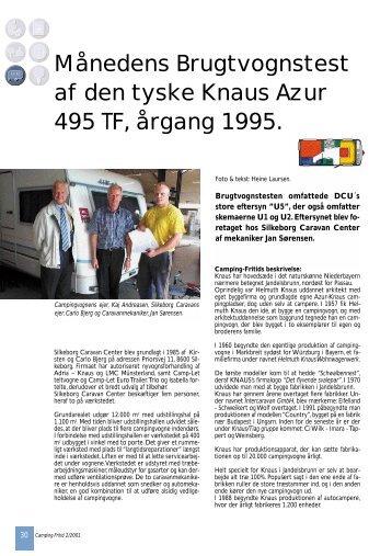 Månedens Brugtvognstest af den tyske Knaus Azur 495 TF, årgang ...