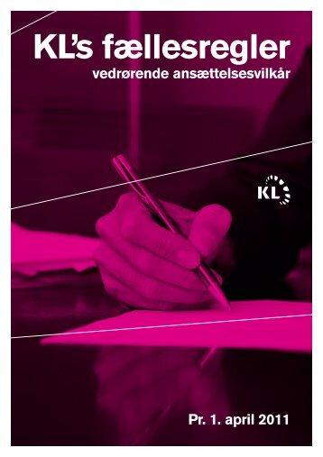 KL's fællesregler - Kommunernes Landsforening