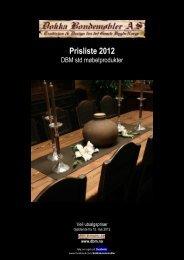 Prisliste 2012 - DOKKA BONDEMØBLER AS