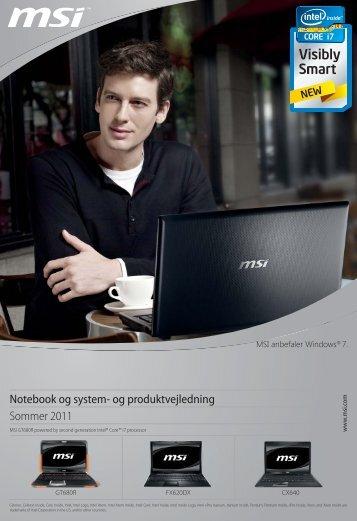 Notebook og system- og produktvejledning Sommer 2011 - Msi