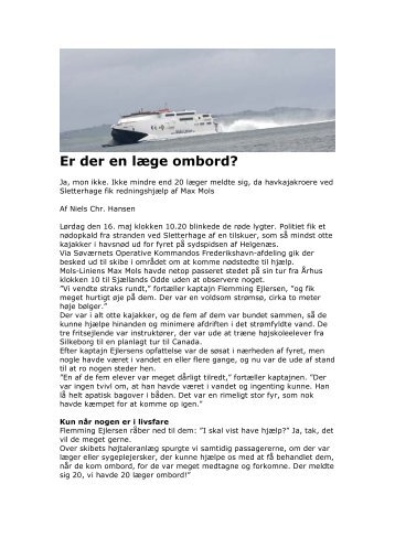 Er der en læge ombord? - Århus Havkajakklub