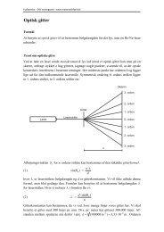Optisk gitter - matematikfysik
