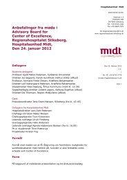 Anbefalinger fra møde i Advisory Board for Center of Excellence ...