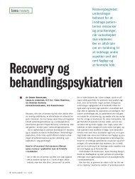 Recovery og behandlingspsykiatrien - Landsforeningen bedre ...
