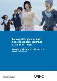 Tidsplan for optagelse til ungdomsuddannelserne - Ungdommens ...