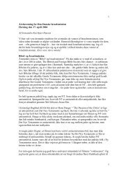 1 1 Årsberetning for Den Danske Israelsmission ... - Israelsmissionen