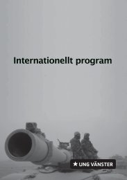 Internationellt program - Ung Vänster