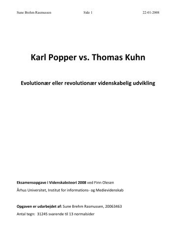 karl poppers notion of falsifiability Karl popper is generally regarded as one of the greatest philosophers of science of the 20th century  these factors combined to make popper take falsifiability as.