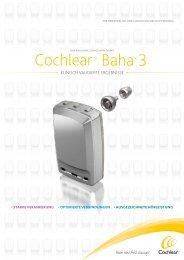 Systembroschüre Baha 3 für Fachkreise - Cochlear Baha